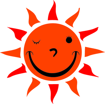 Yurayura sun's face