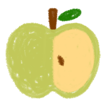 Green apple (half)