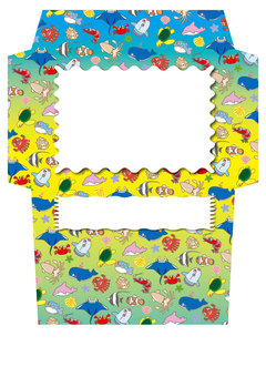 A collection of cute sea creatures! Envelope 07