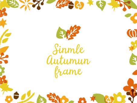 Autumn stamp background material