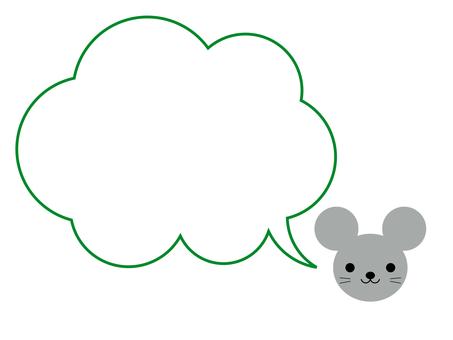 쥐 풍선 프레임 동물 녹색