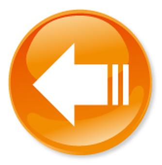 Icono de flecha - Naranja