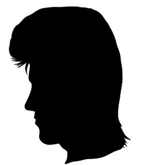 Silhouette of the person of the present