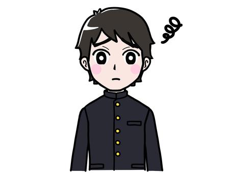 School run boy student