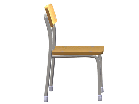 School chair (horizontal)