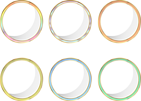 Colorful round frame 6 pattern