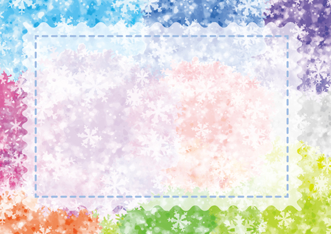 Colorful snow card