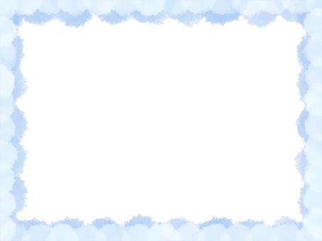 도 ふもふ 프레임 (하늘색)
