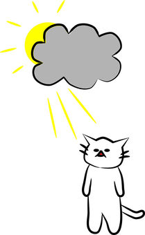 Cloudy sky with Nyanko
