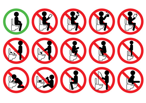 No toilet mark