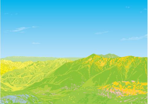 산의 풍경 봄 자연 고원 벽지