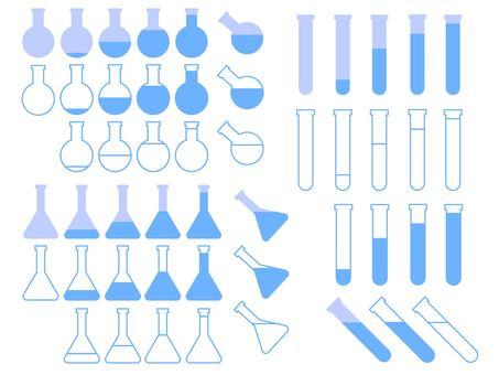 Flat design laboratory equipment