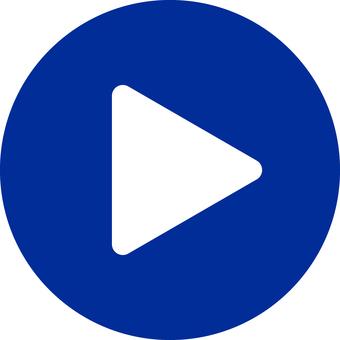 Movie playback button _ 03 _ blue
