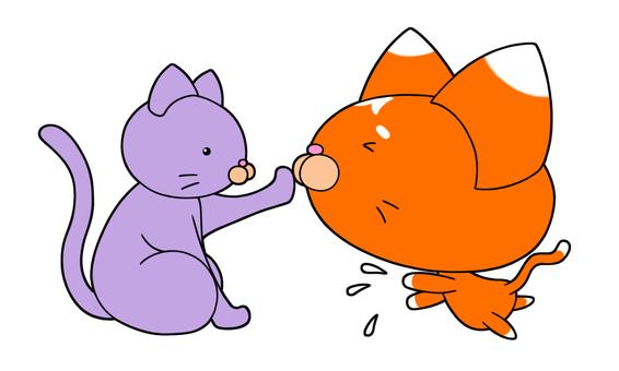 一隻貓不是對手