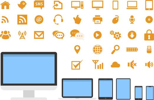 Icon set / PC internet