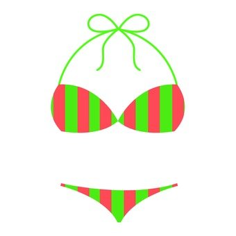 Stripe pattern bikini