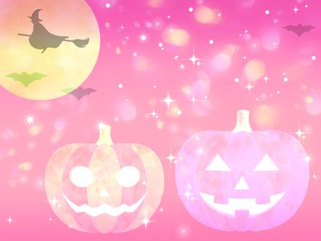 Halloween background (pink)