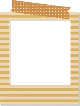 Polaroid frame striped brown