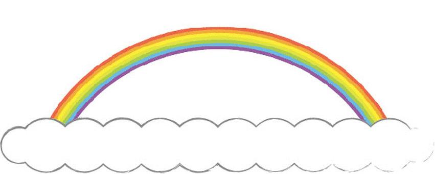 Frame (rainbow and cloud)