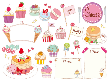 Hand-painted sweets set 01