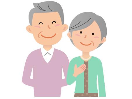 60214. Senior couple, upper body