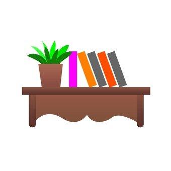 Decoration shelf (flowerpot and book)