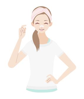 Skin Care Nasal Pack Female