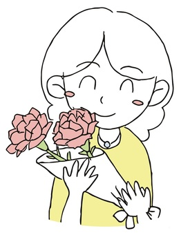 Mother and carnation