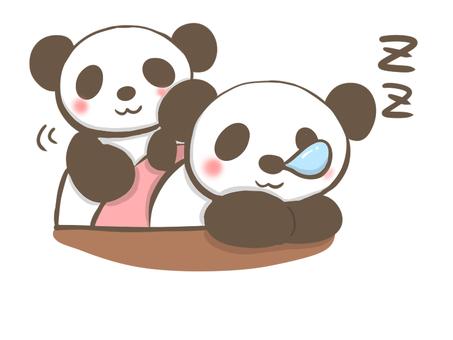 I will put on a futon panda