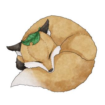 Fox animal stuffed toy illustration