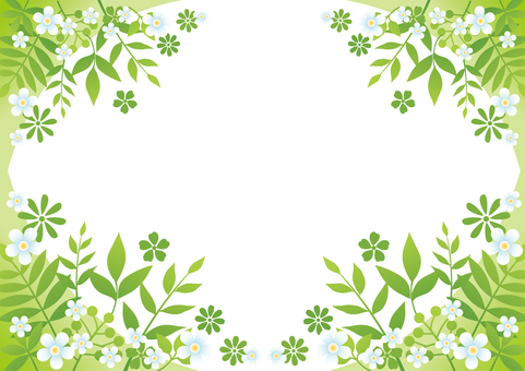 Frame background of flowers