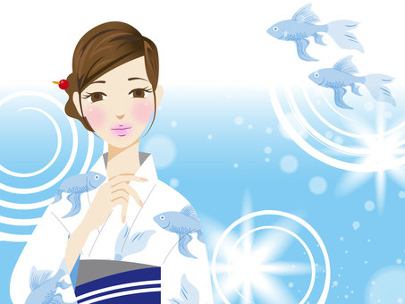 Yukata female background