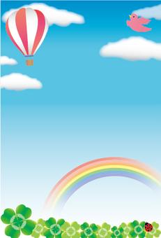 Blue sky and balloon frame