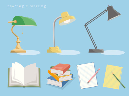 Reading and writing with desk light