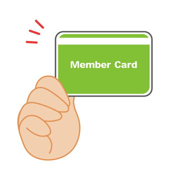 Show or present your membership card