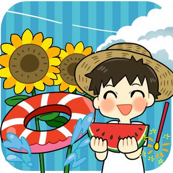 Round cut - summer vacation