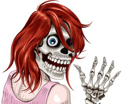 Horror skull women
