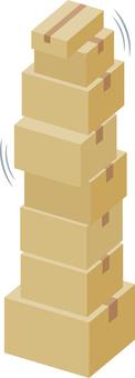 Stacked cardboard box