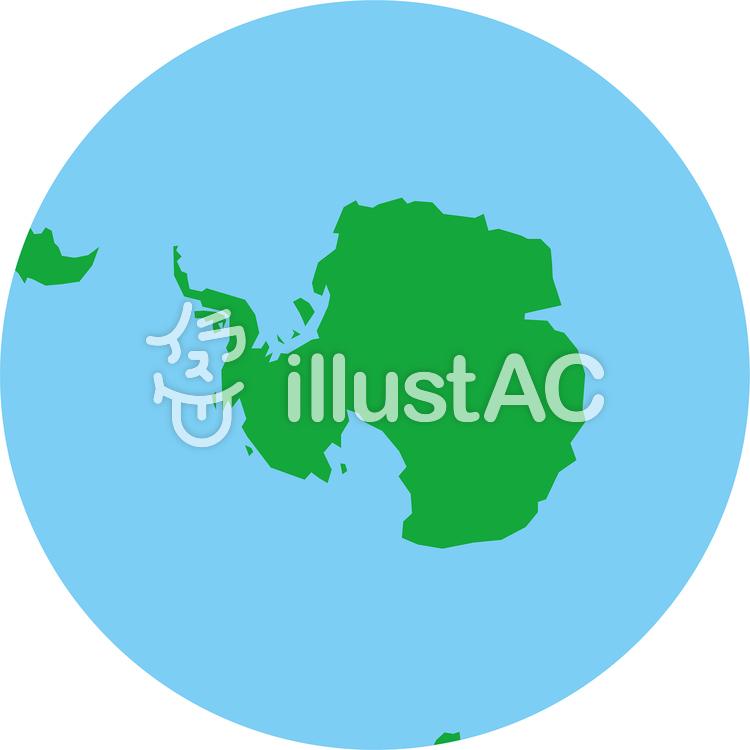 正射図法世界地図-南極中心のイラスト