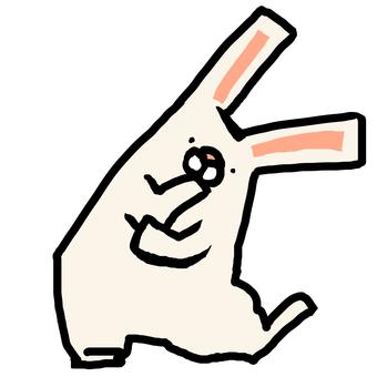 While thinking rabbit