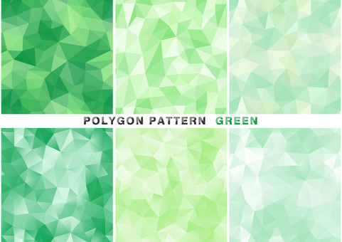 Polygon pattern set green