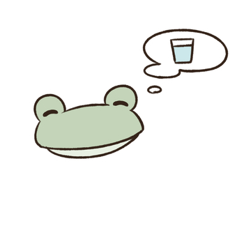 Water and frog