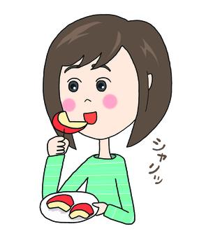 吃蘋果的女人