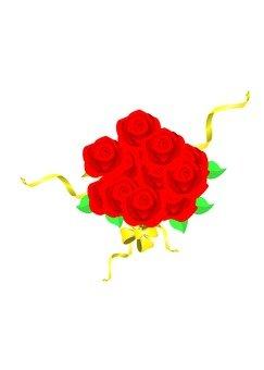 A red flower bouquet