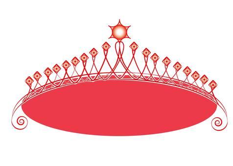 Red tiara A