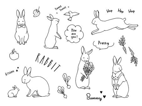 토끼 세트