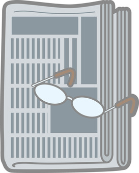 Newspaper and glasses 1