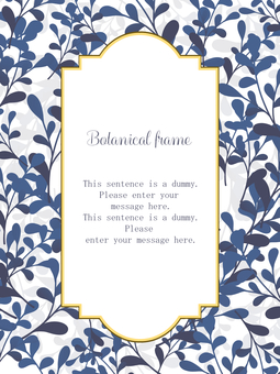 植物框架01 /藍色a