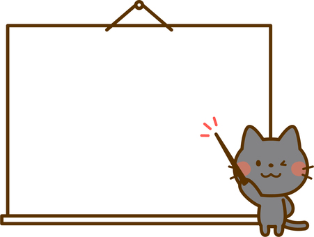 Black cat's decorative frame