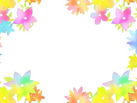 Colorful flower frame